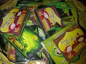 Green envelope - Green envelopes for sale at the Surabaya market
