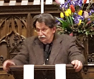 Gregory Orr (poet) - Gregory Orr speaking at Plymouth Congregational Church in Minneapolis, Minnesota on Monday, April 9, 2018.