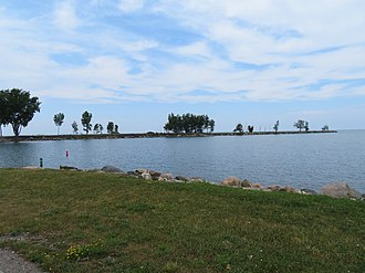 National Register of Historic Places listings in Huron County, Michigan - Image: Grindstone City Piers