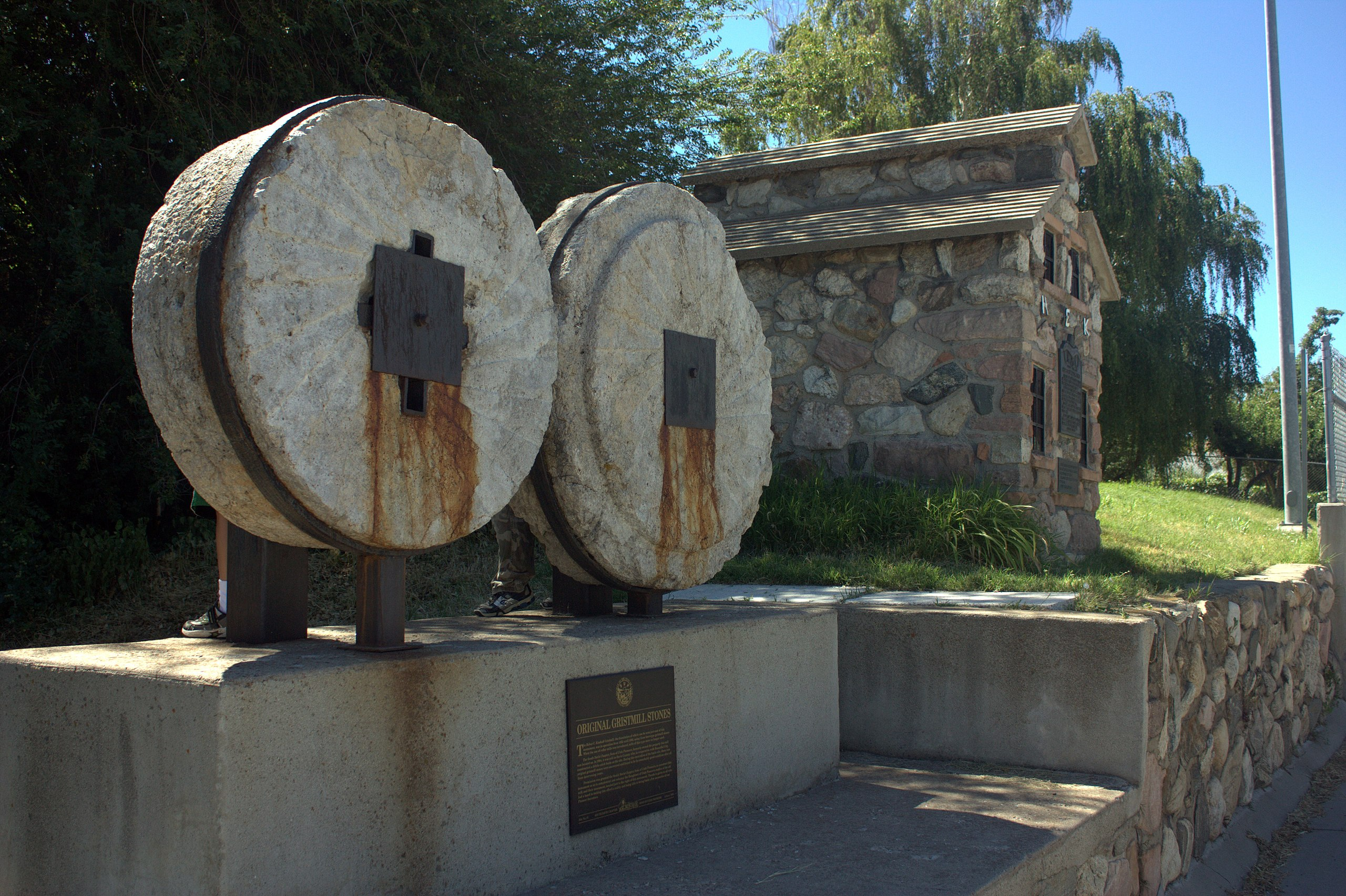 """Original Gristmill Stones"" Monument"