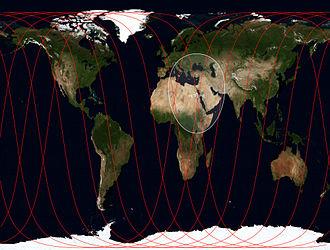 MetOp - Ground track of MetOp-B, September 2012