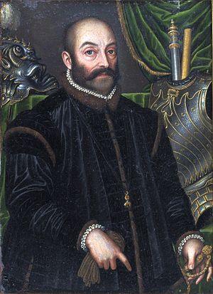 Guidobaldo II della Rovere, Duke of Urbino - Portrait of The Duke of Urbino wearing an Armor by Filippo Negroli, ca. 1580–85, Metropolitan Museum of Art