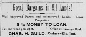 Real estate ad from the Medaryville, Indiana, ...