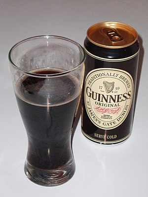 Arthur Guinness - A can of Guinness featuring Arthur Guinness's signature