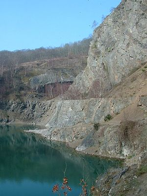 Malvern Hills - Gullet Quarry and unconformity