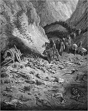 Gustave Doré- Crusaders discovers dead pilgrims of Peter the Hermit.jpg