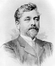 A drawing of Gustave Eiffel.