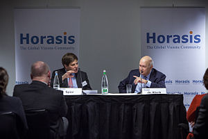 Guy Spier - Guy Spier and former President of South Africa, F.W. de Klerk in discussion at the Horasis 2013 Annual Meeting