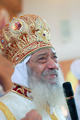 Pope Shenouda III of Alexandria - Pope Shenouda III at the consecration of a Coptic Church in Staten Island, New York City.