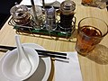 HK CWB Times Square basement mall 翡翠拉麵小籠包 Crystal Jade La Mian Xiao Long Bao Restaurant table setting August 2018 SSG 05.jpg