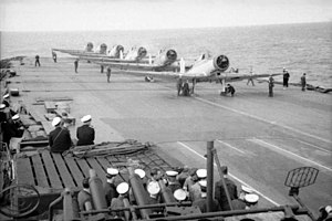 800 Naval Air Squadron - Blackburn Skuas of 800 Naval Air Squadron on the flight deck of HMS ''Ark Royal''
