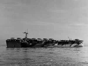 HMS Campania (D48) - Campania in June 1944.