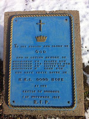 HMS Good Hope (1901) - HMS Good Hope plaque, CFB Halifax