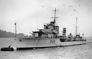 HMS <i>Hasty</i> (H24) ship