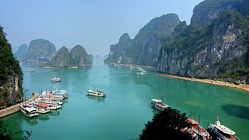Ha Long Bay on a sunny day