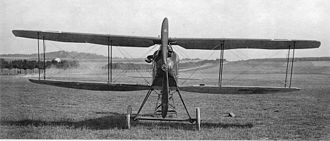 "Halberstadt D.II - An allegedly ""factory-fresh"" Halberstadt D.II fighter, showing the trailing-edge ""droop"" on all four wing panels"