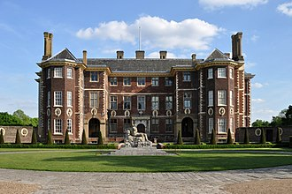 Ham House - Ham House in 2016, with Coade stone statue of Father Thames, by John Bacon the elder, in the foreground