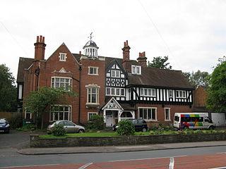 The Anchorage, Birmingham grade II* listed building in Handsworth Wood, Birmingham, England