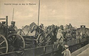 Wuchang Uprising - Beiyang Army on the way to Hankou, 1911.