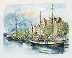 Hansestadt Lubeck Tatiana Yagunova Watercolor painting 2014.jpg