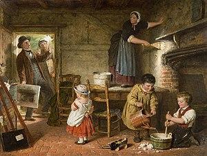 Wolverhampton Art Gallery - Frederick Daniel Hardy.The Dismayed Artist