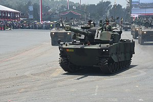 Pindad - Harimau hitam in celebration of the 72nd Indonesian army.