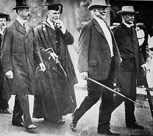Frank William Taussig - F. W. Taussig (second from the left) at the 1911 Harvard commencement