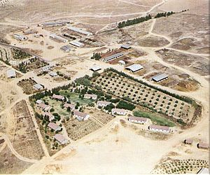 11 points in the Negev - Aerial view of Hatzerim, 1958