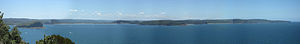Broken Bay - Image: Hawkesbury River Mouth Panorama