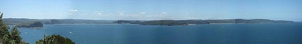 Broken Bay vom Barrenjoey Lighthouse