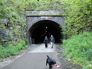 Monsal Dale - Headstone Tunnel, at the southern end of the viaduct, was opened to the public in May 2011