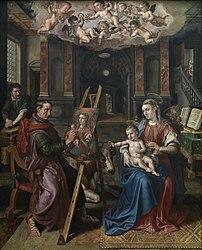 Maarten de Vos: Saint Luke painting the Madonna