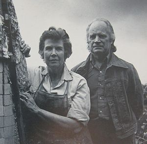 Otto and Vivika Heino - Vivika and Otto at The Pottery, Ojai