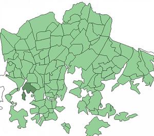 Meilahti - Image: Helsinki districts Meilahti 1