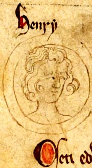 Henry, son of Edward I - Depiction of Henry on the family tree