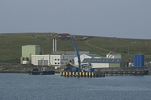 Fish meal - Fish meal factory, Bressay, Shetland Islands