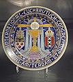 Herinneringsbord Internationaal Eucharistisch Congres Amsterdam 1924, geproduceerd door Mosa (collectie H v Buren, Maastrichts aardewerk, Centre Céramique, Maastricht).JPG