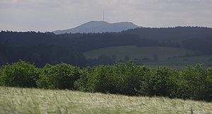 Hesselberg - Morning view of Hesselberg from the West