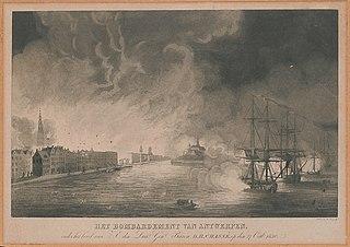Het bombardement van Antwerpen onder het bevel van ... Chassé op den 27 Octbr. 1830.