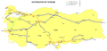 Highways network in Turkey 2010 French.png