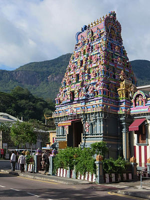 Indo-Seychellois - A Tamil Hindu Temple in Victoria, the capital of Seychelles