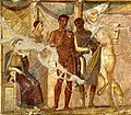 Hippolytus and Phaedra, fresco from Pompeii.JPG