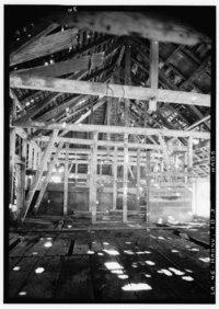 framing for a barn taken 1940