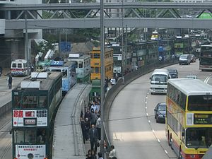 Hong Kong Tramways - A broken-down tram may result in serious traffic congestion