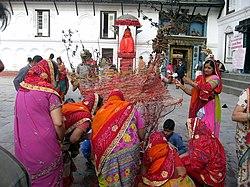 Holika Dahan, Kathamandu, Nepal