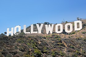 Le célèbre panneau Hollywood.