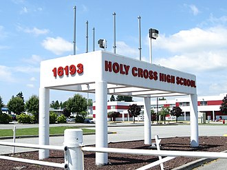 Holy Cross Regional High School - Image: Holy Cross High School (gate)