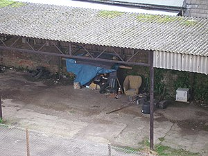 Homelessness in England - A homeless man in Chatham, Kent.