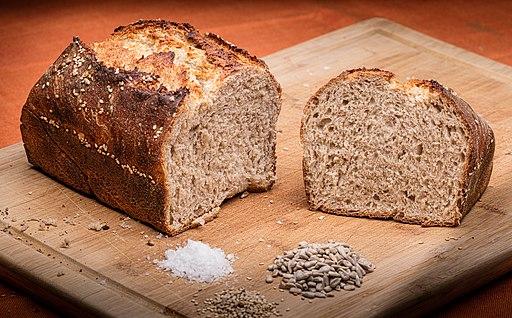 Home made whole grain bread