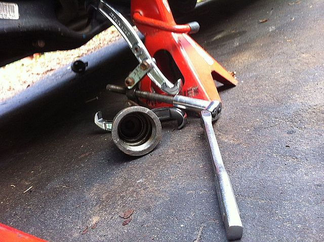 Trailing arm bushing tool hack - around $20 - Honda-Tech